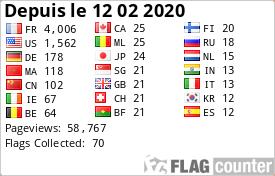 france-webcams.com est inscrit sur le Flag Counter depuis le 12-02-2020